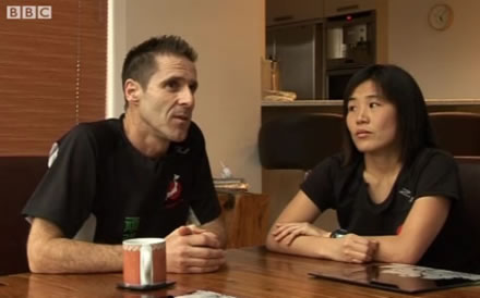 Mike and Rieko Trees are interviewed by the BBC about Tri4Japan